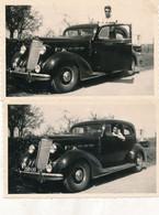 2 Photos (11 X 7 Cm)  : Beau Plan D'une Voiture Ancienne  (BP) - Automobili
