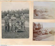 3 Photos Originales Collées Sur Papier Cartonné : Mineur De Charbon (Ca 1920) (BP) - Profesiones