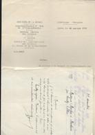 Lettre Ministère Guerre 20 01 1919 Repérages Des Tombes D'un Soldat BOULOIS Jean Baptiste Victor Du 66e Régiment D'infan - 1914-18