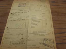 Lettre De Voiture Oblitérée Par 2X (différents) NORD BELGE OUGREE-CIMENTERIE En 1935. - Nord Belge