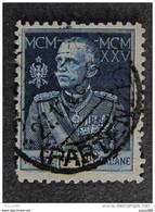 """ITALIA Regno Perfin -1925-26-""""Giubileo"""" £. 1,25 Dent. 11 US° (descrizione) - Sonstige"""