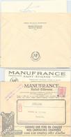 LETTRE PUBLICITAIRE MANUFRANCE SAINT ETIENNE - MAISON DE PARIS  + CORRESPONDANCE - 7.11.1959  / 1 - Briefe U. Dokumente
