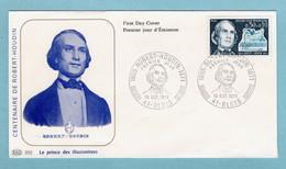FDC France 1971 - Robert Houdin YT 1690 - 41 Blois - 1970-1979