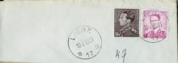 Doc. De LIEGE - B 17 B - Du 16/04/68 En Rec. ( E ) - Landpost (Ruralpost)