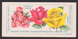 Markenheftchen Rosen Mit DDR 16 I2 Postfrisch Professor Knöll, Izetka Köpenicker Sommer - Carnet