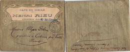 LETTRE PUBLICITAIRE CAFE DU SIECLE HENRI RIEU - CHOMERAC ARDECHE   / 1 - Brieven En Documenten