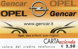 *CARTA AZIENDA 2° Tipo: OPEL GENCAR - Cat. 566* - NUOVA (MINT) (FT) - Unclassified