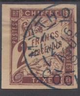 #148# COLONIES GENERALES TAXE N° 16 Oblitéré En Bleu MYTHO (Cochinchine) - Portomarken