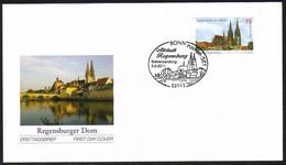 2850 UNESCO Regensburg Aus Folienblatt 14, FDC Erstverwendungs-O Bonn 3.2.1011  - Ohne Zuordnung