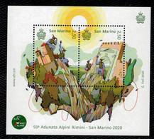 San Marino 2020 93a Adunata Dell'Associazione Nazionale Alpini Rimini- San Marino 2v  Complete Set ** MNH - Ungebraucht