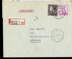 Doc. De IXELLES - ELSENE - B 7 B - Du 28/04/67 En Rec. ( E ) - Landpost (Ruralpost)