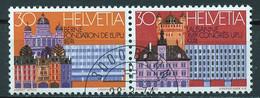 Suisse - Switzerland - Schweiz 1974 Y&T N°956 Et 957 - Michel N°1027 Et 1028 (o) - UPU - Se Tenant - Used Stamps