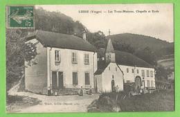 UR0339  CPA    LUSSE  (Vosges)  Les Trois Maisons - Chapelle Et Ecole    ++++ - Other Municipalities
