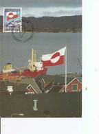Drapeaux ( CM Du Groenland De 1989 à Voir) - Sobres