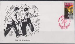 MINERALS - MEXICO - 1991 - MINING ILLUSTRATED FDC - Minéraux