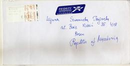Netherlands Letter 2009 Via Macedonia ,post Label - Brieven En Documenten