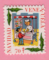 1970 VENEZUELA Navidad Gelato Ice Cream Campagna Tubercolosi TBC Cindarella Vignetta Erinnofilo - Nuovo - Venezuela