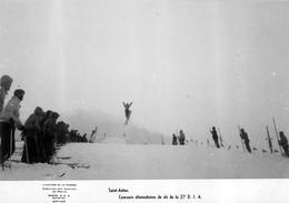 SAINT ANTON CONCOURS DE SKI DE LA 27e D.I.A.  PHOTO MINISTERE DE LA GUERRE SERVICES DE PRESSE 17X12CM - War, Military