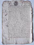 Document Parchemin Généralité De Paris -1710 - Bail Maison Rue Du Temple - BE - Algemene Zegels