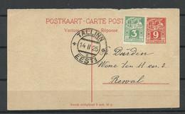 Estland Estonia 1925 Postal Stationery Ganzsache Response Part Used In Reval Tallinn - Estonia