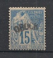 Obock - 1892 - N°Yv. 6 - Alphée Dubois 15c Bleu - Signé Miro - Neuf * / MH VF - Ungebraucht