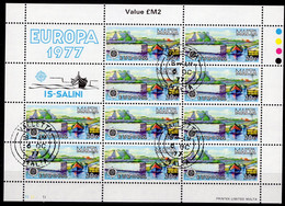 CEPT 1977 Malta 555 Zf 10-Kleinbogen O 9€ Landschaft Is Salini Hoja Nature Sheet Sheetlet Bloque Bloc S/s Bf EUROPA - 1977