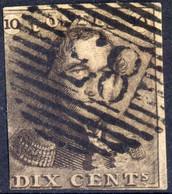 1849 - Nr 1 - Dix Cents (°) 83 Mons - 1849 Epaulettes