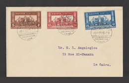 """Egypt - 1931 - Rare - 14th Agricultural & Industrial Exhb. - To """"Angeloglou"""" - Cartas"""