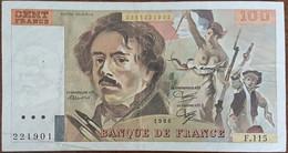 Billet 100 Francs Eugène DELACROIX 1986 FRANCE  F.115 - 100 F 1978-1995 ''Delacroix''