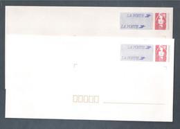 France, Entier Postal, 2806-E4, LOT De 2 Enveloppes, Neuf **, TTB, Marianne De Briat, (TVP) Rouge - Standard Postcards & Stamped On Demand (before 1995)