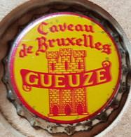 VIEILLE ET RARE CAPSULE KROONKURK BRASSERIE ALEN WAANRODE GUEUZE CAVEAU DE BRUXELLES  (PARFAIT ETAT) - Bière