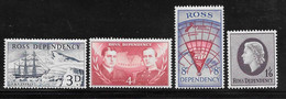 Ross Dependency - 1957 Definitives 4v MNH - Altri - Oceania