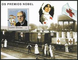 Guinea Bissau 2003 MNH MS, Nobel Medicine Winner Fleming, Red Cross, Nurse, Railways ) - Rotes Kreuz