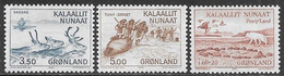 Greenland  1981  3 Diff Animals  MNH   2016 Scott Value $4.50 - Unused Stamps