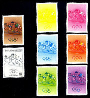 SPORTS-TRACK & FIELD-LOS ANGELES OLYMPICS-COLOR TRIALS-FULL SET-LIBYA-MNH-A5-666 - Atletismo