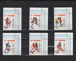 BUZIN / RWANDA 1986 / COUPE DU MONDE DE FOOTBALL A MEXICO / SERIE  COMPLETE / COB 1275-1280 - 1985-.. Birds (Buzin)