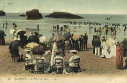 BIARRITZ  L'Heure Du Bain  Colorisée Recto Verso - Biarritz