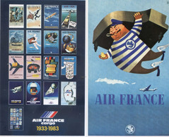 Lot De 14 Cartes - Collection Du Musee Air France - Air France Cargo - Illustrateurs: Pages; Morvan; Ponty; Colin; Hugon - 1946-....: Modern Era