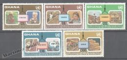 Ghana 1985 Yvert 895-99, 20th Ann. United Nations Conference Trade & Development - MNH - Ghana (1957-...)