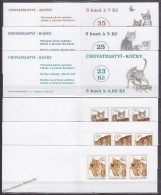 Czech Republic - Tcheque 1999 Yvert C199/ 201 Fauna, Cats - Booklet - MNH - Unused Stamps