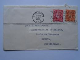 D175844 UK Cover Cancel Streatham 1946- Keep Death Off The Road -to Dr. K.H. Rechinger, Geneva Conservatoire Botanique - Briefe U. Dokumente