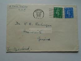 D175845 UK Cover Cancel Chelsea 1948  -to Dr. K.H. Rechinger, Université Geneve Switzerland - Briefe U. Dokumente