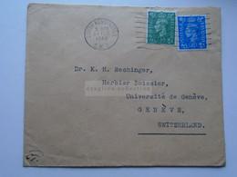 D175848UK Cover  South Kensington 1948  - Sent To  Dr. K.H. Rechinger, Université Geneve Switzerland - Briefe U. Dokumente