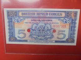 GRANDE-BRETAGNE (ARMY) 5 SHILLINGS 2e SERIE DEMONETISER Peu Circuler (B.21) - Forze Armate Britanniche & Docuementi Speciali