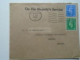 D175850 UK Airmail Cover  Botanic Garden Edinbugh  1948  - Sent To  Dr. K.H. Rechinger, Université Geneve Switzerland - Briefe U. Dokumente