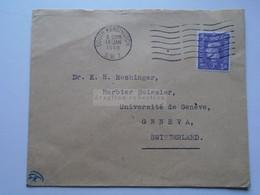 D175851 UK   Cover South Kensington    1948  - Sent To  Dr. K.H. Rechinger, Université Geneve Switzerland - Briefe U. Dokumente