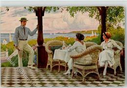 52571719 - Willkommener Besuch - Tennis - Sign. Fischer, Paul - ASCO 3144 - Otros Ilustradores
