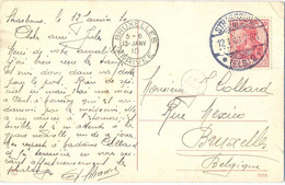 ALSACE-LORRAINE STRASSBURG TàD 12.1.10 C.P. Pour BRUXELLES Belgique OMec BD SEUL BRUXELLES ARRIVEE 13-JANV 10 - Alsace Lorraine