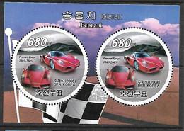 COREE DU NORD BLOC FEUILLET N°545 Voiture De Sport Ferrari - Corea Del Nord