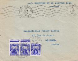 Franchise Abusive Assistance Judiciaire Chateaubriant 3 11 1944 Taxée Au Mans Le 5 - Portomarken